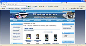 E-commerce shopping cart store website